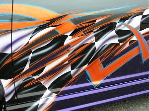 VW golf / tuning lak / airbrush / design
